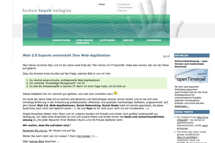 Human Touchnologies / Webdesign