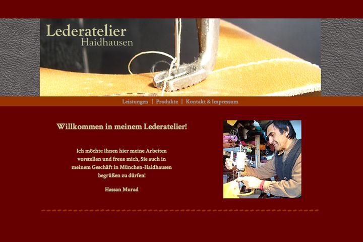 Lederatelier Haidhausen / Webdesign