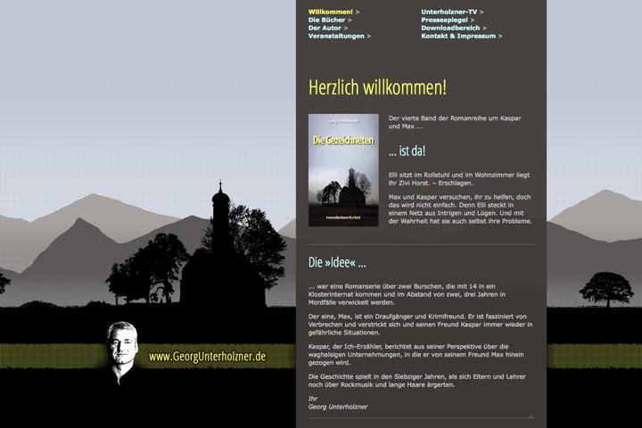 Georg Unterholzner / Webdesign