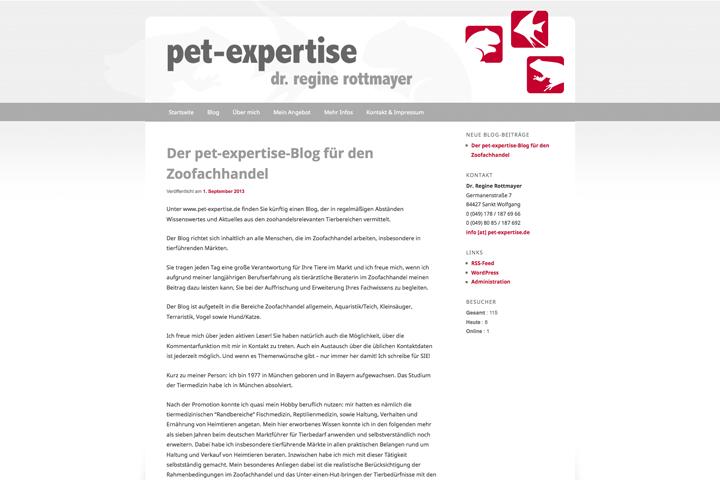 pet-expertise / Webdesign