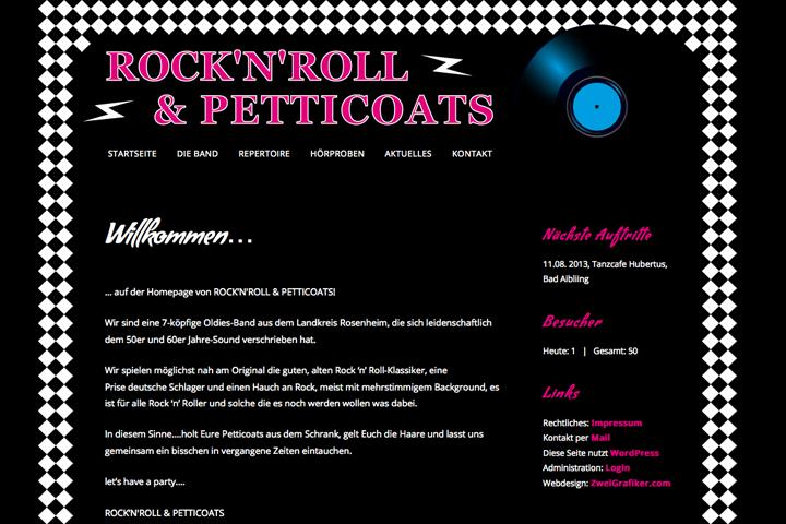 Rock'n'Roll & Petticoats / Webdesign
