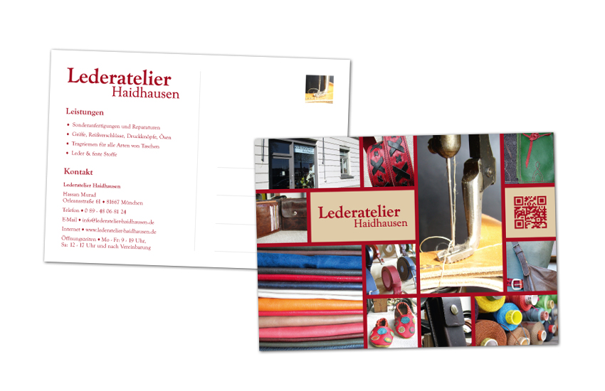 Lederatelier Haidhausen / Postkarten