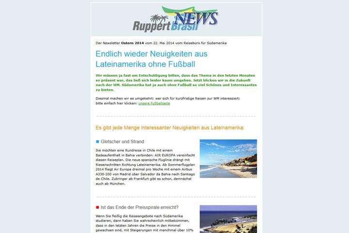 Ruppert-Brasil-Newsletter / Webdesign