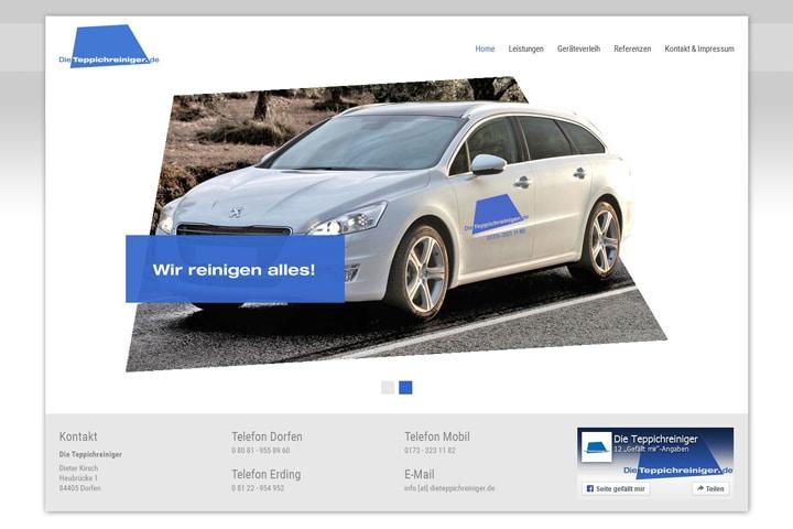 Die Teppichreiniger / Webdesign