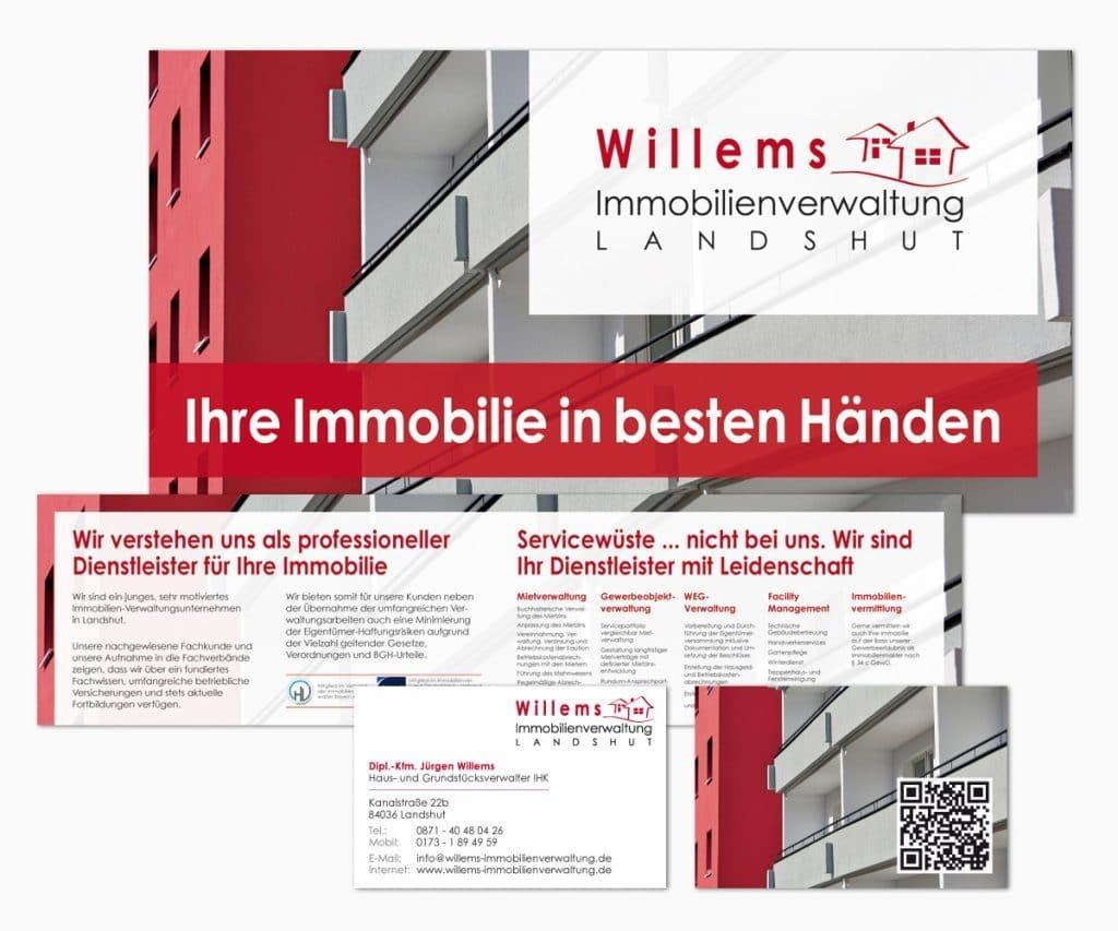 Willems Immobilienverwaltung / Flyer