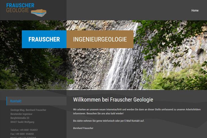 Frauscher Geologie / Webdesign
