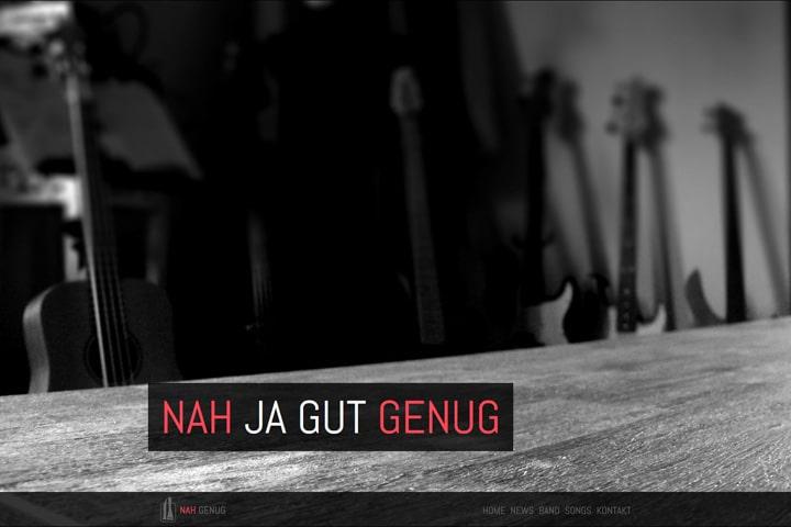 Nah Genug / Webdesign