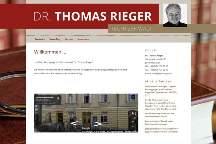 Dr. Thomas Rieger / Webdesign