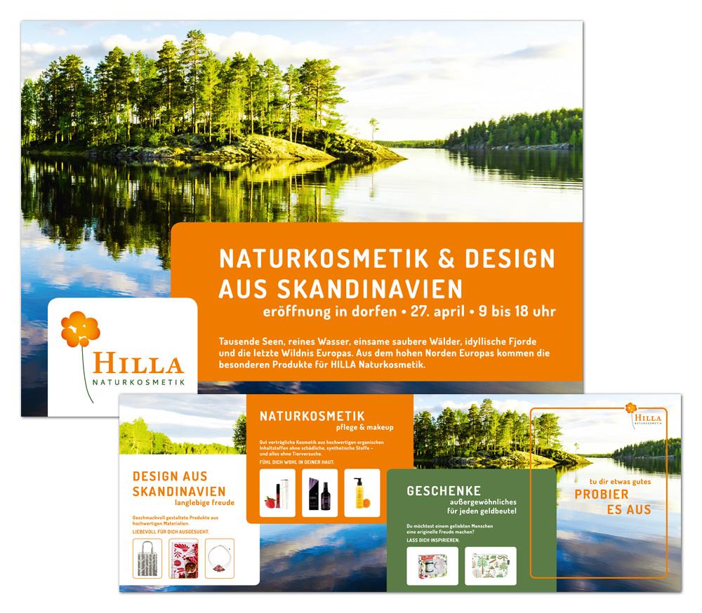 Hilla Naturkosmetik / Flyer