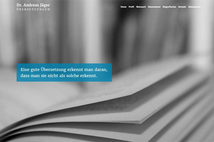 Dr. Andreas Jäger / Webdesign