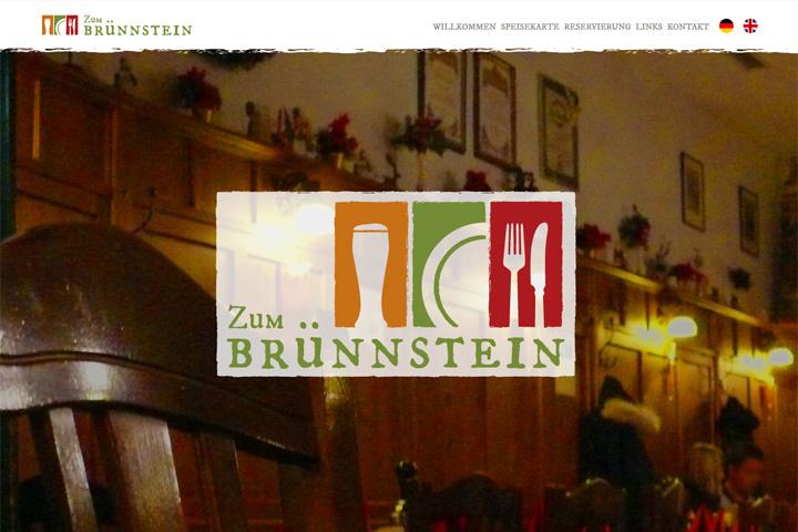 Gaststätte Zum Brünnstein / Webdesign