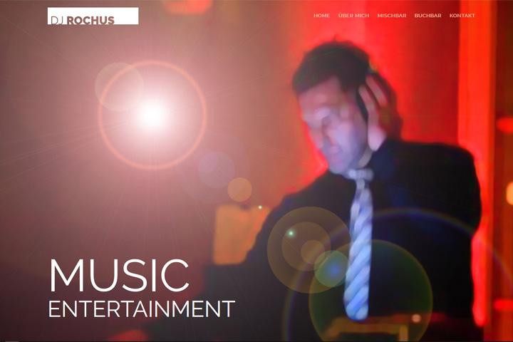 DJ Rochus / Webdesign