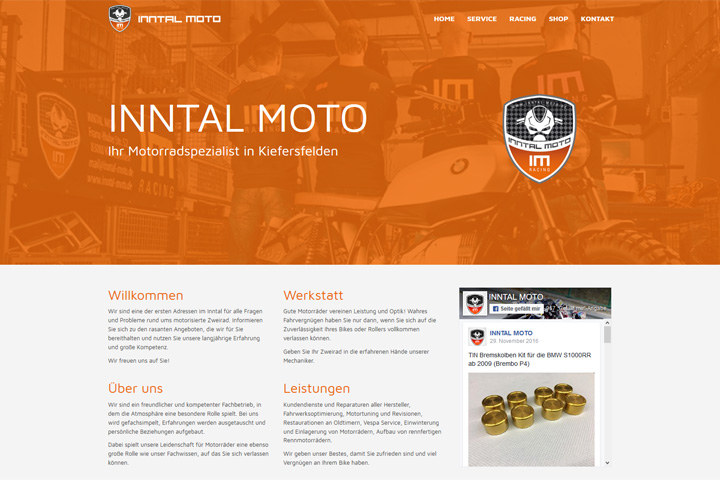 Inntal Moto / Webdesign
