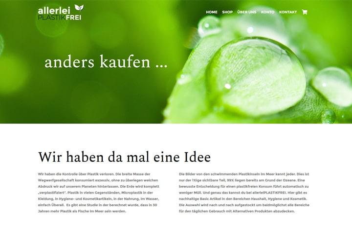 allerlei PLASTIKFREI / Webdesign