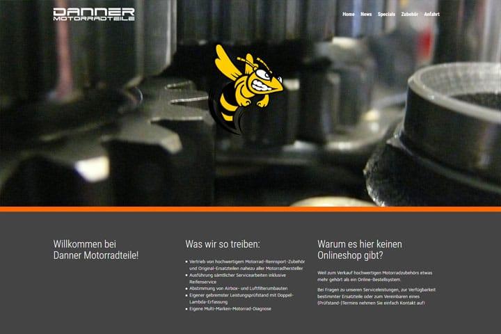 Danner Motorradteile / Webdesign