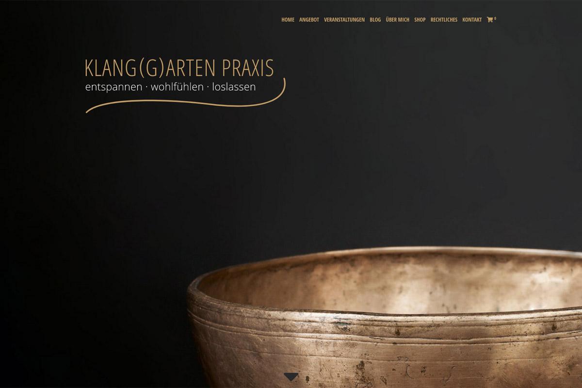 Webdesign für die Klangspezialistin aus Dorfen (2018)