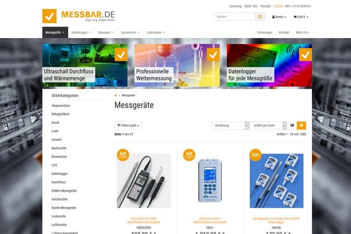Messbar.de / Webdesign