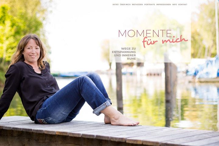 Momente für mich / Webdesign