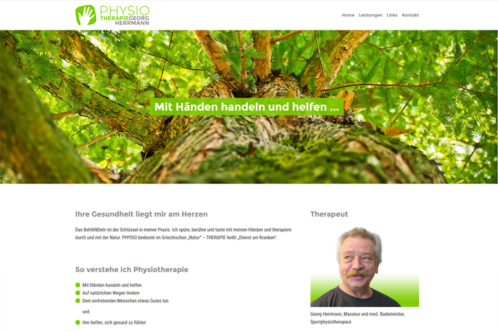 Physiotherapie Georg Herrmann / Webdesign