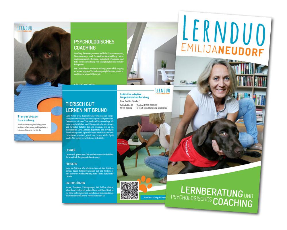 Lernduo Emilija Neudorf / Flyer
