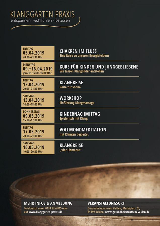 Klanggarten Praxis / Plakat