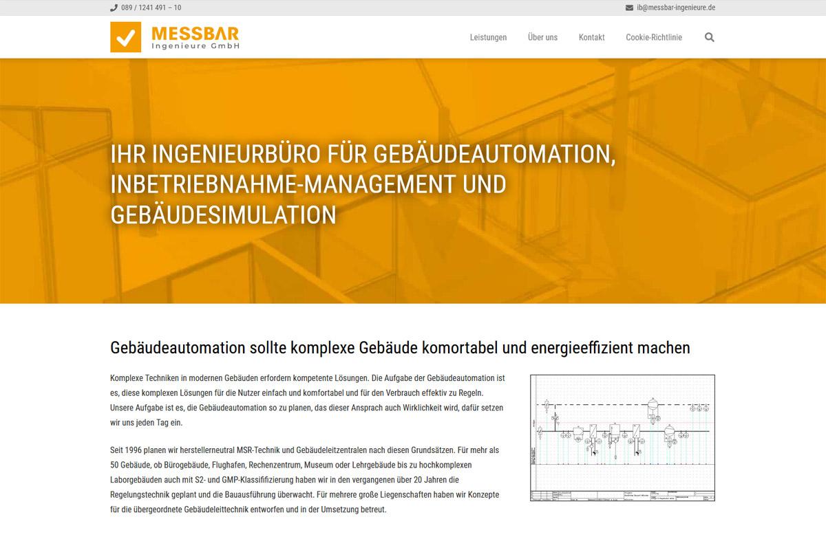 MESSBAR Ingenieure / Webdesign