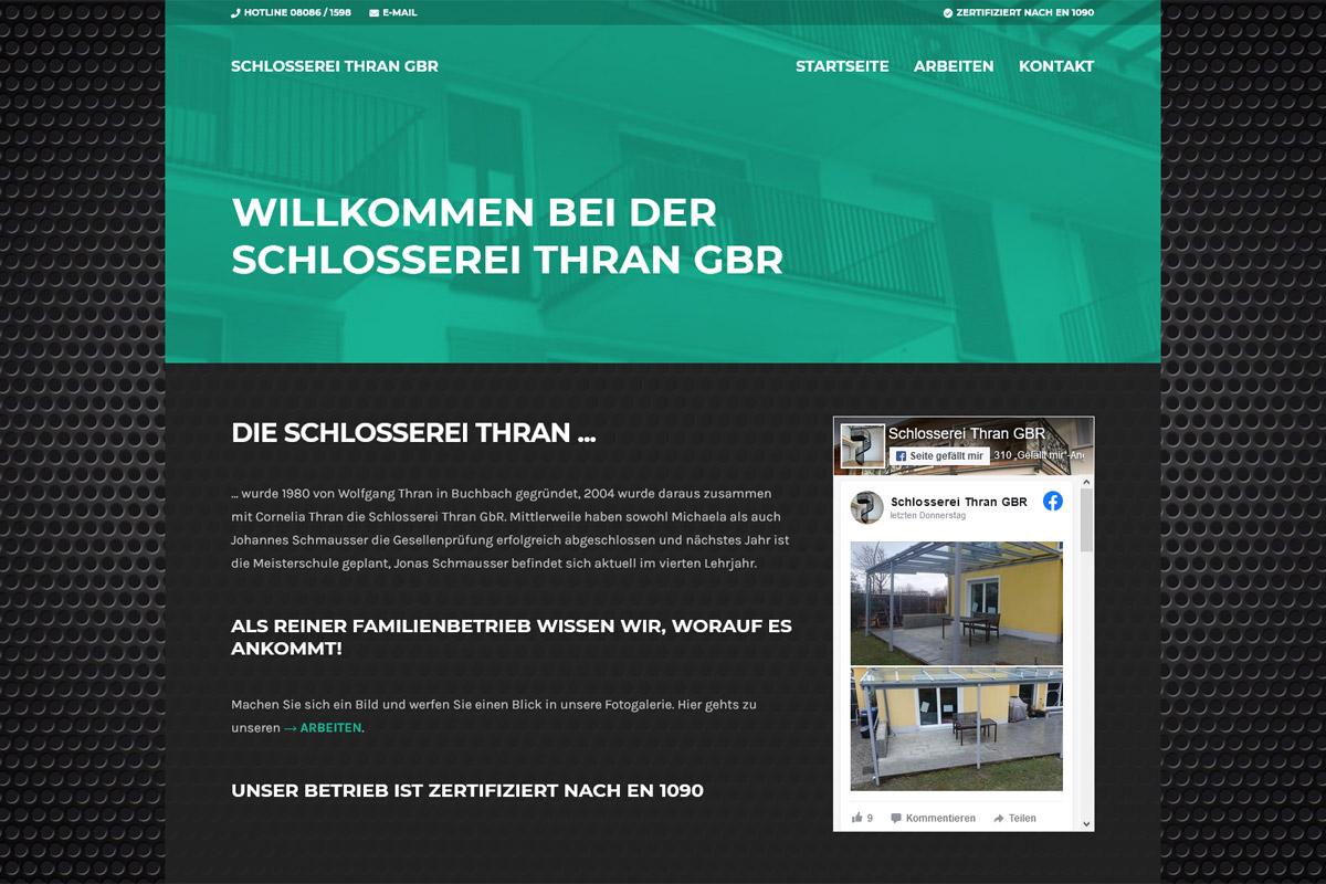 Schlosserei Thran / Webdesign