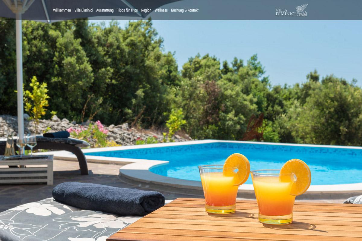 Villa Diminici / Webdesign