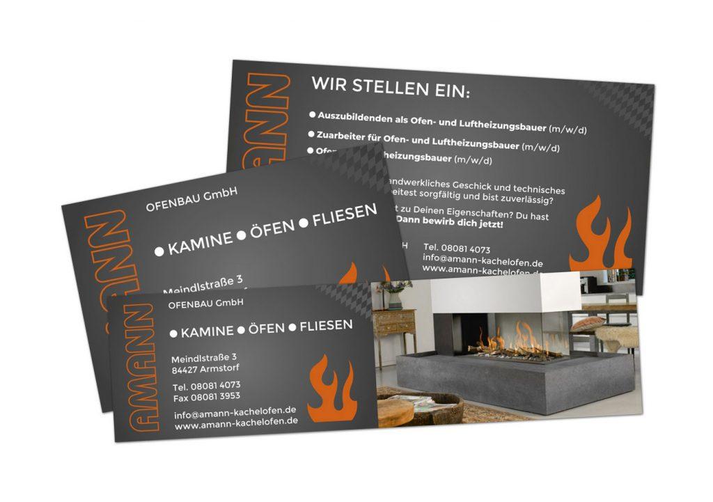 Amann Ofenbau GmbH / Drucksachen