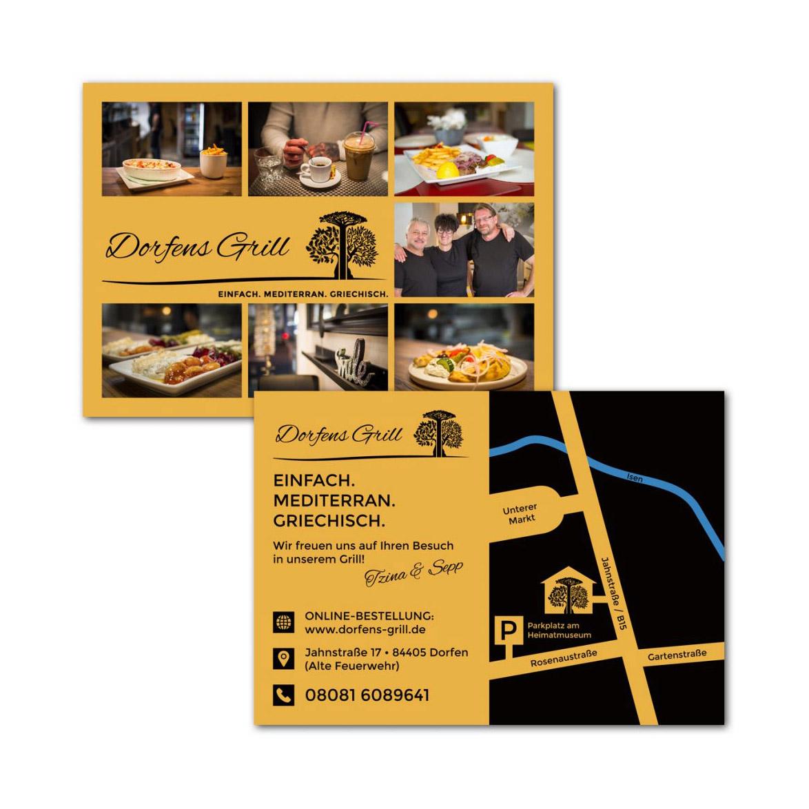 Dorfens Grill / Postkarte