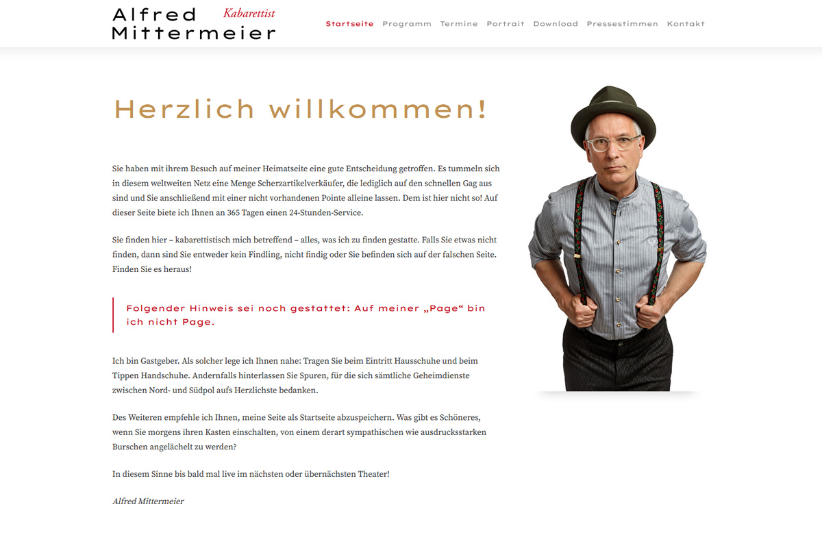 Alfred Mittermeier / Webdesign