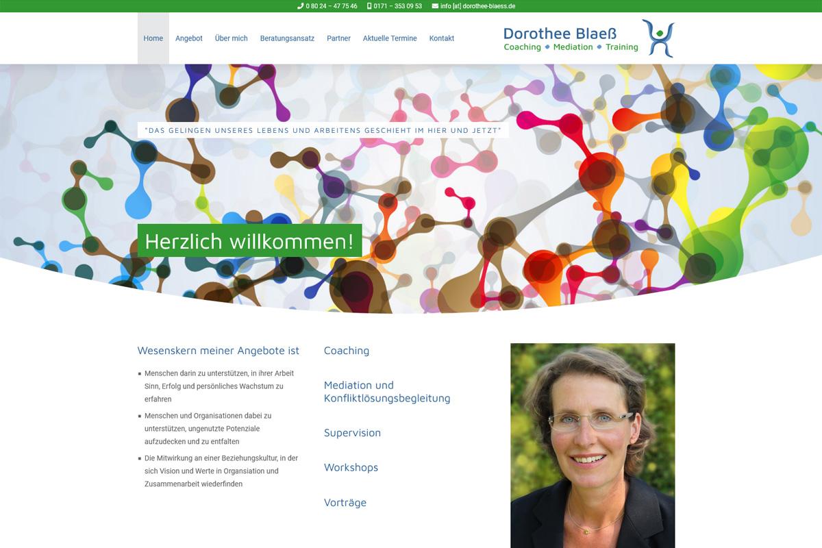 Dorothee Blaeß / Webdesign