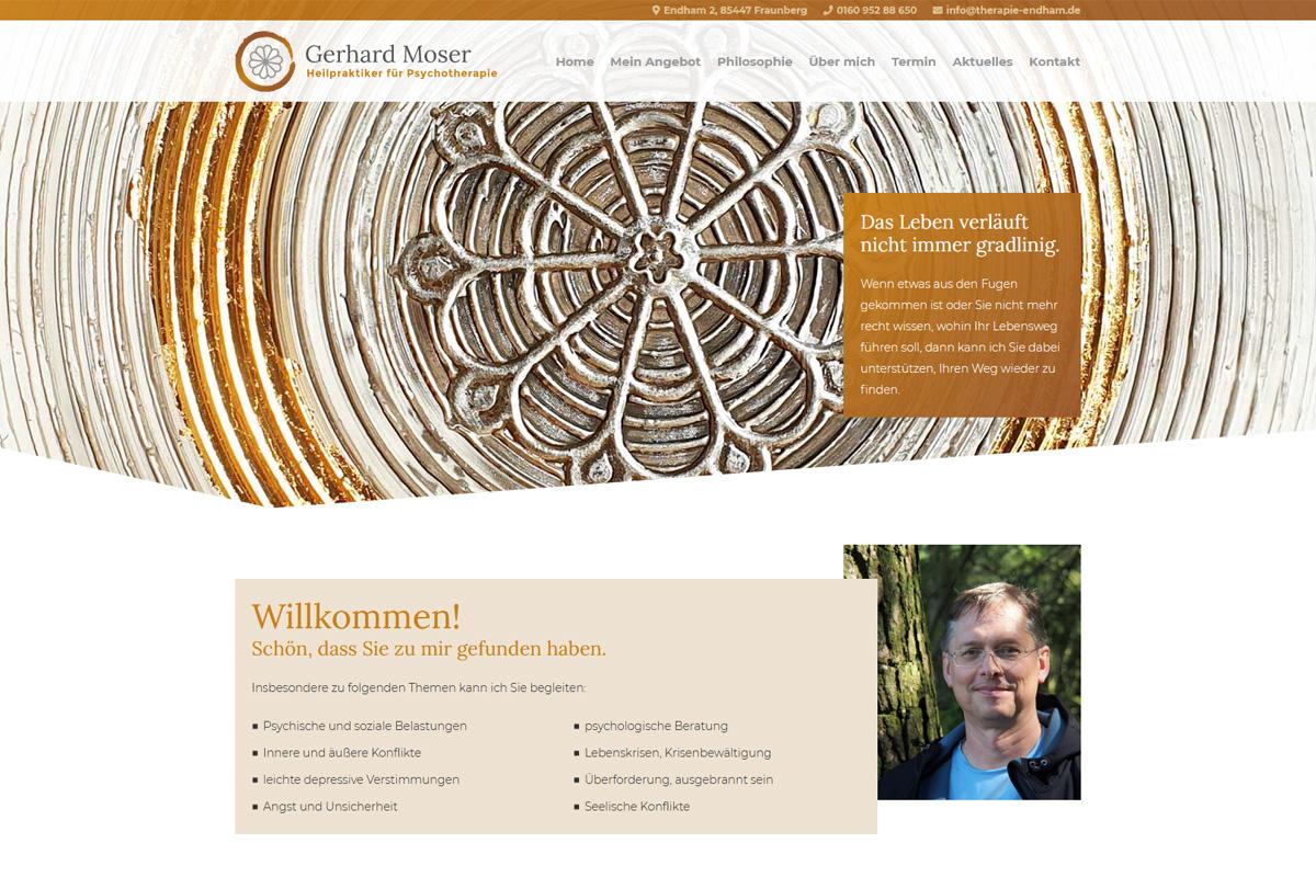 Gerhard Moser / Webdesign