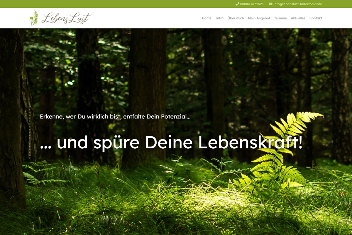 LebensLust - Marion Faltermaier / Webdesign