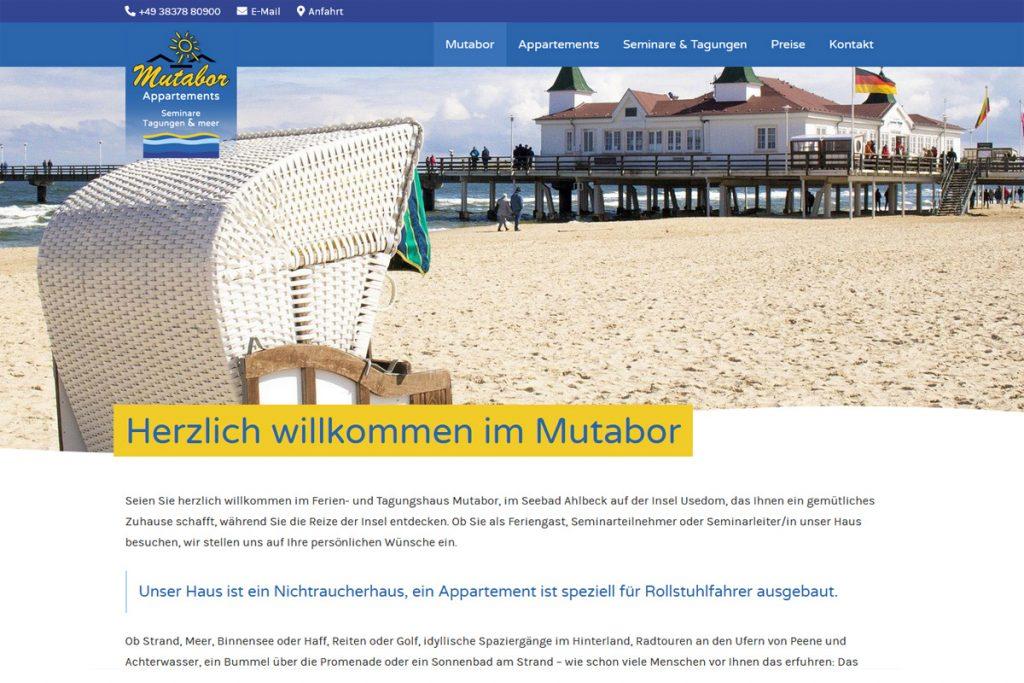 Mutabor Usedom / Webdesign www.mutabor-usedom.de