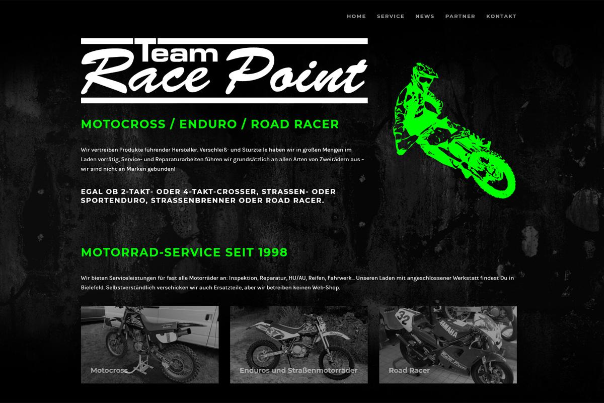 Team Race Point / Webdesign